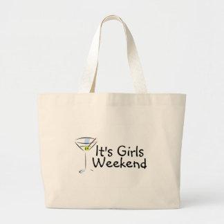 Su fin de semana de los chicas bolsas