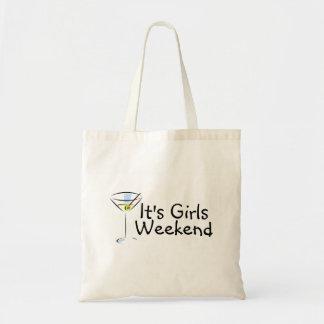Su fin de semana Martini de los chicas Bolsa De Mano
