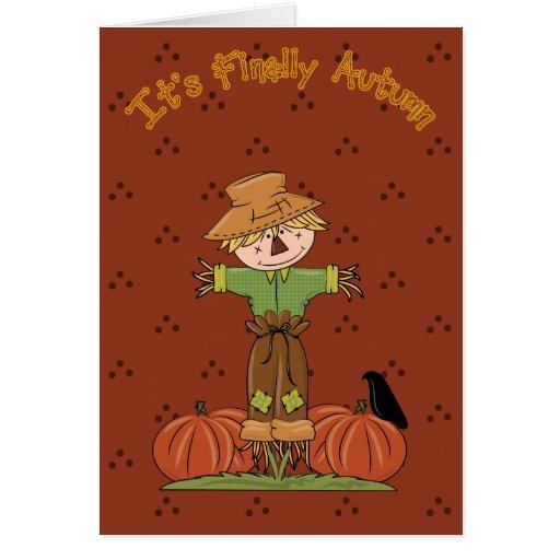 Su finalmente otoño 2 tarjeta de felicitación