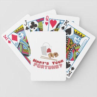 Su fortuna cartas de juego