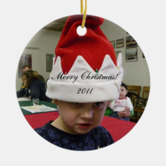 Su foto aquí ornamento de navidad