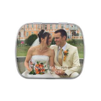 Su foto aquí personalizada casando favor latas de caramelos