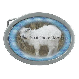 SU foto azul de la cabra del modelo aquí ceñe Buc Hebilla Cinturón