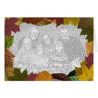 Su foto de la acción de gracias en el marco de tarjeta de felicitación