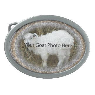 SU foto de la cabra del brillo de la plata del oro Hebillas Cinturón