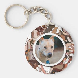 SU foto del personalizado del perro de la maravill Llavero Redondo Tipo Pin
