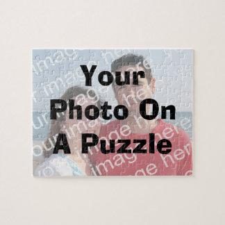 Su foto en un rompecabezas