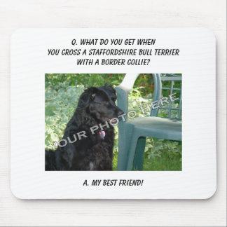 ¡Su foto! Mezcla de Staffordshire bull terrier del Alfombrillas De Ratones