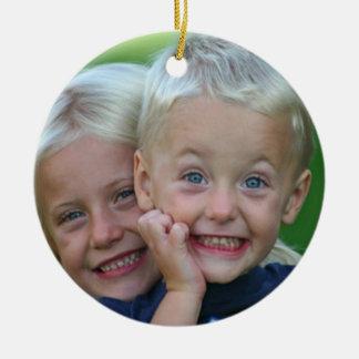Su foto Persoalize en el ornamento trasero del nav Adornos De Navidad