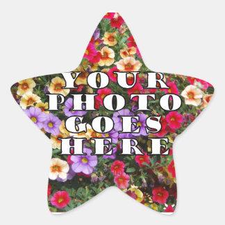 Su foto va plantilla aquí modificada para pegatina en forma de estrella