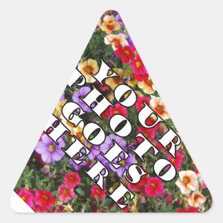 Su foto va plantilla aquí modificada para pegatina triangular