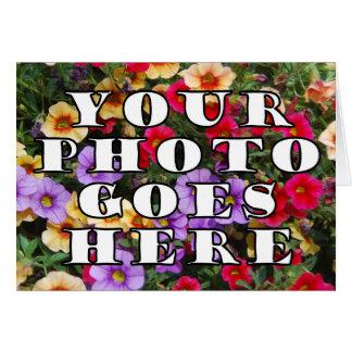 Su foto va plantilla aquí modificada para tarjeta de felicitación