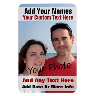 Su foto y texto en un imán flexible