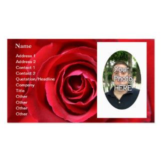 Su fotografía con una frontera hermosa tarjetas de visita