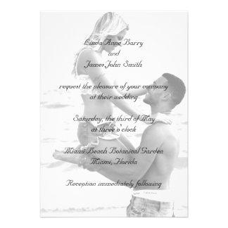 Su fotografía en invitaciones del boda comunicados