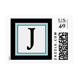 SU franqueo simplemente elegante del monograma J d