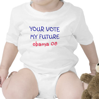 SU FUTURO de VOTEMY Obama 08 - bebé Camiseta