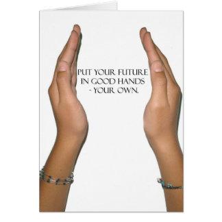 Su futuro (versión femenina) tarjeta de felicitación