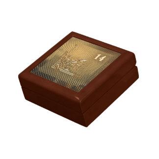 Su giftbox y número afortunado 14 joyero cuadrado pequeño