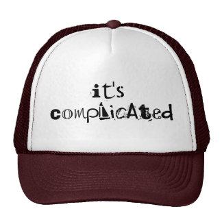 Su gorra complicado del camionero