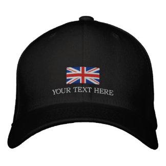 Su gorra de Reino Unido del texto - casquillo de Gorra De Beisbol Bordada
