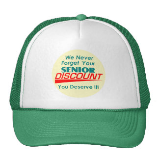 SU gorra mayor del descuento