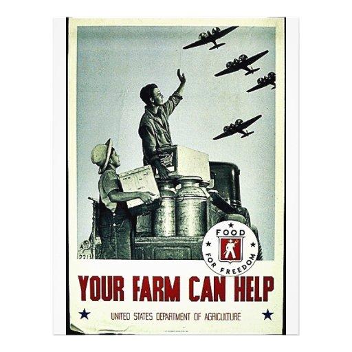 Su granja puede ayudar tarjetón