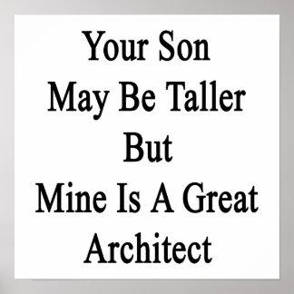 Su hijo puede ser más alto pero la mina es un gran póster