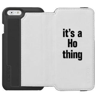 su ho una cosa funda billetera para iPhone 6 watson