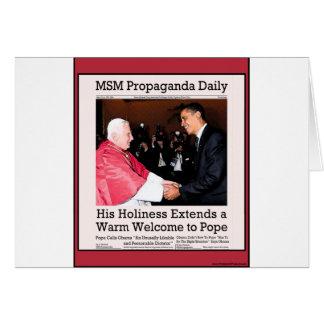 Su Holiness encuentra al papa Tarjeta De Felicitación