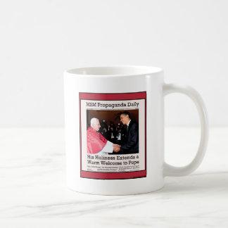 Su Holiness encuentra al papa Taza De Café