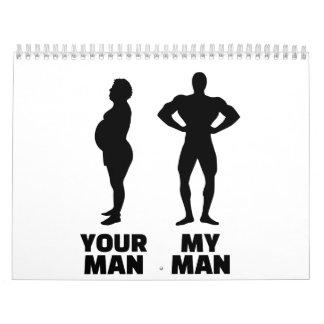 Su hombre mi marido del hombre calendario de pared