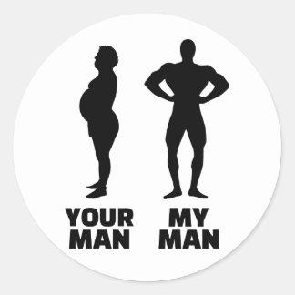 Su hombre mi marido del hombre etiquetas redondas