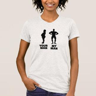 Su hombre mi marido del hombre camisetas