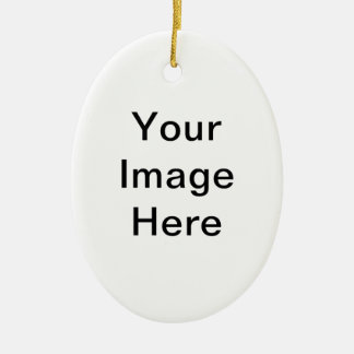 Su imagen aquí esconde la plantilla adorno navideño ovalado de cerámica