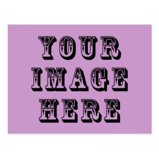 Su imagen aquí tarjeta postal