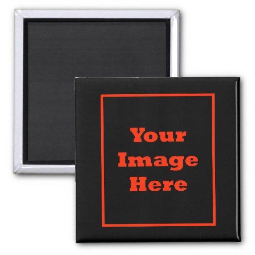 Su imagen aquí (vertical) iman de nevera