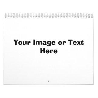 Su imagen o texto aquí calendario de pared
