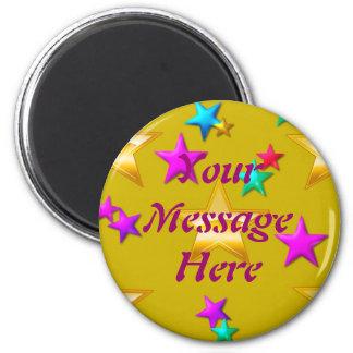 Su imán de la estrella del oro del mensaje