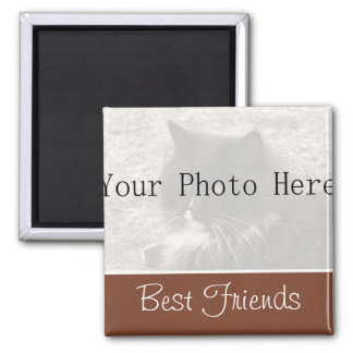 Su imán de los mejores amigos de Brown de la foto