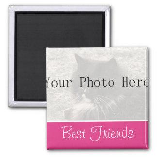 Su imán de los mejores amigos del rosa de la foto