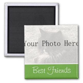 Su imán de los mejores amigos del verde de la foto