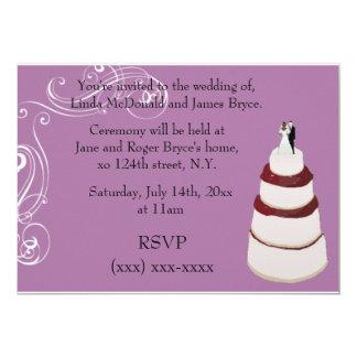 Su invitación del boda invitación 12,7 x 17,8 cm