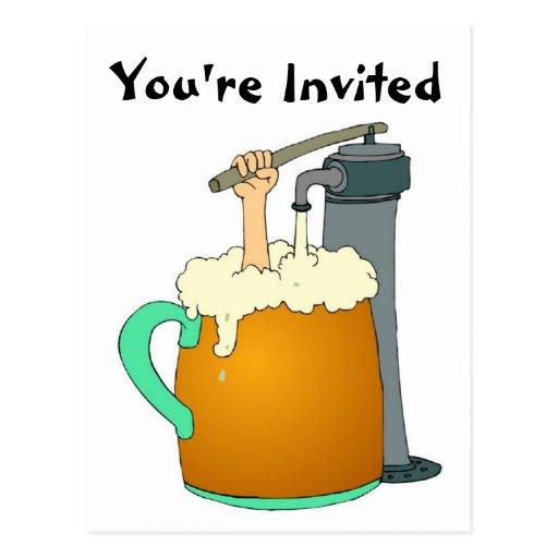 Su invitado a una postal del fiesta de la cerveza