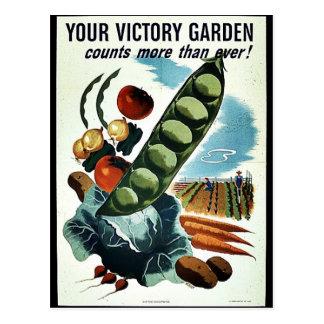 Su jardín de victoria tarjetas postales