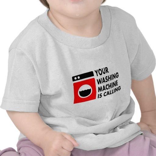 Su lavadora está llamando camiseta