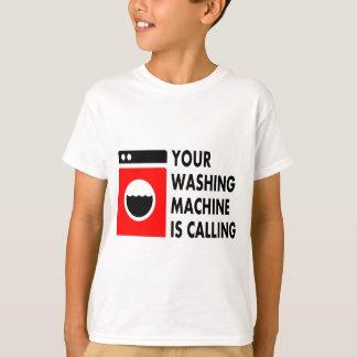 Su lavadora está llamando playeras