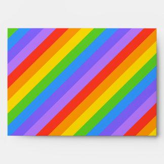 Su letra, arco iris raya el monograma sobres