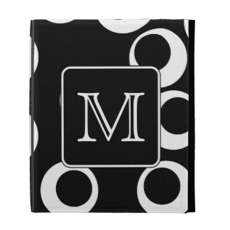 Su letra. Monograma blanco y negro. Modelo de la d