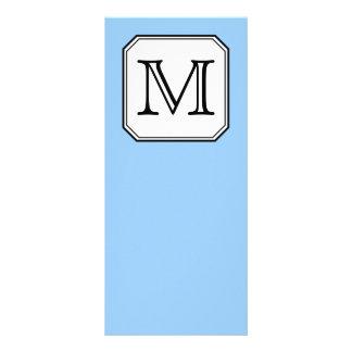Su letra Monograma de encargo Blanco del negro a Plantilla De Lona